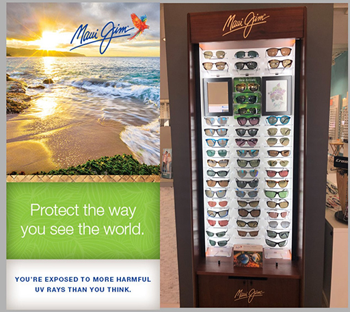 maui jim display